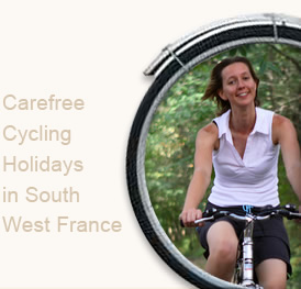 Carefree cycling in South-West France
